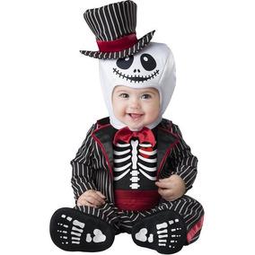 Disfraz Niño Bebe Esqueleto Traje Calavera Catrín Halloween