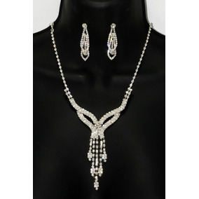 Conjunto Elegante, Collar, Aretes, Pulsera Y Anillo Ce155