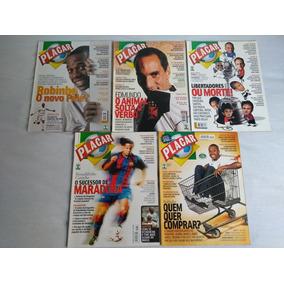 Coleção Revistas Placar 5 Unid Perfeitas Top Para Colecionad