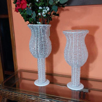 Vaso Decorativo Para Casamento C/ Base De Ferro (2 Un)