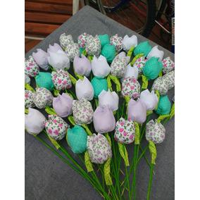 Tulipanes En Tela