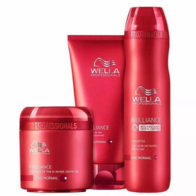 Wella Brilliance - Kit Shamp250+cond200+masc.cab.finos150ml