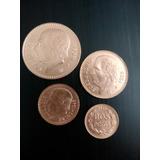 Monedas De 10, 5, 2 1/2 Y 2 Pesos Oro