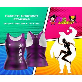 Regata Nadador Feminina Fitness Academia Furadinho Dry Fit 42fea4bfdc8