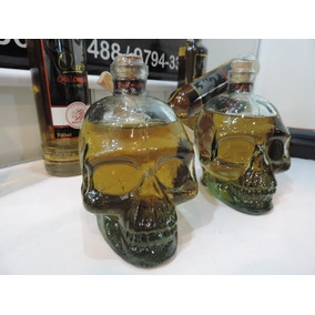 Kit Duas Garrafas Em Vidro - Cranio Caveira