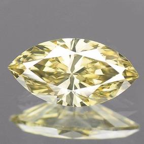 Diamante Amarillo Canario .40 Cts. Corte Marquise