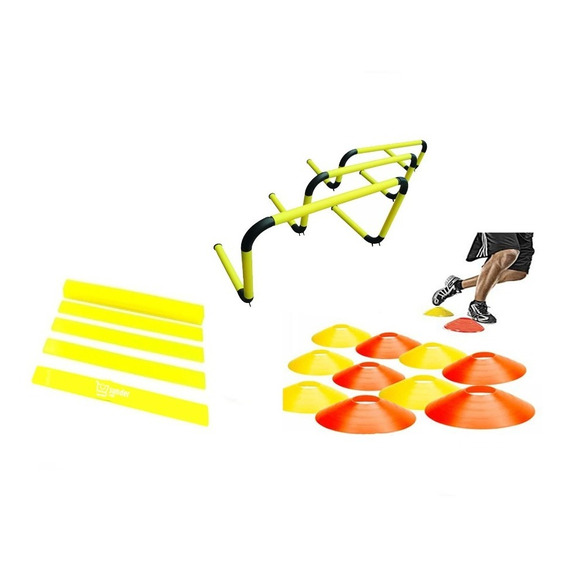 Set Kit Entrenamiento Futbol (cono+vallas+flejes)