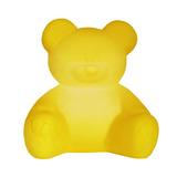 Luminária Abajur Ursinho Amarelo Quarto Menino Menina