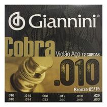 Encordoame Giannini Violão 12 Cordas Geef12m .010 - Refinado