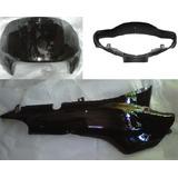 Combo 1 Plasticos Honda Biz 105 Negro Brillante - 2r