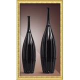 Vaso Decorativo De Cerâmica Preto!