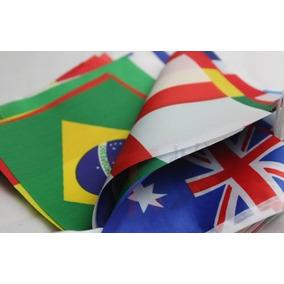 Bandeirinhas Kit 32 Países 14cm X 21cm - Dupla Face