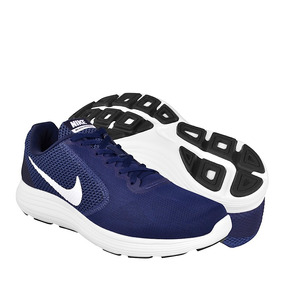 Tenis Para Correr Nike Para Hombre Textil Navy White 8190040