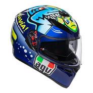 Casco Agv K3 Top Rossi Misano 2015