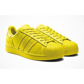 Adidas Superstar Blancas Zapatillas Color Amarillo Zapatillas Blancas Urbanas Adidas 61f37d
