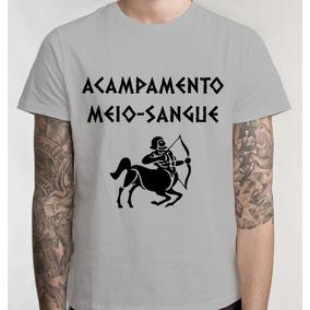 Camiseta Acampamento Meio Sangue Percy Camisa Blusa Unissex