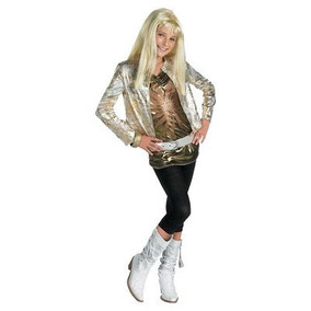 Hannah Montana Costume Deluxe Gold - Medio Infantil 7-8