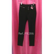 Pantalones De Vestir Negro Nuevo Importado Casual Tubito