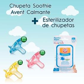 Lenço Higienizador De Chupetas E Kit Chupeta Calmante Avent