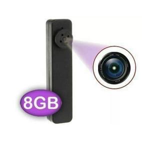 Botão Espião Micro Camera Escondido Gravador Audio-video+8gb