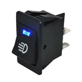 Botão Interruptor Farol De Milha Universal Com Led Azul