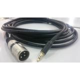 Cable Plug 3.5 A Xrl Conecta El Cpu A Caja Amplificada 4 M