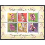 Rumania 2007 - Flores Orquideas Hermoso Bloque Mint $$$
