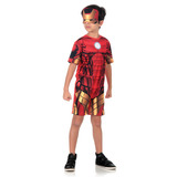 Fantasia Homem De Ferro Infantil Curto - Animação