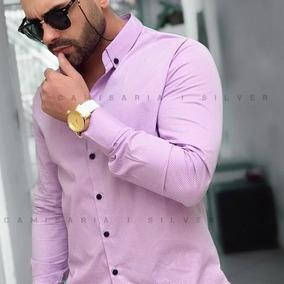 Camisa Social Slim Polka Dot Bolinha Pront Entrega - 4 Cores