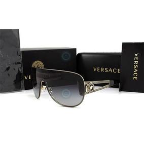 Lentes Gafas Versace Ve2166 - 1252/87 Pale Gold Micas Grey