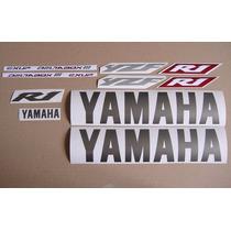 Yamaha Yzf-r1 2003 - Calcamonias,silver Version ,sticker Set