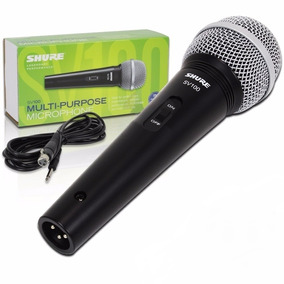 Microfone Dinâmico Shure Sv100 Sv 100 Acompanha Cabo P10