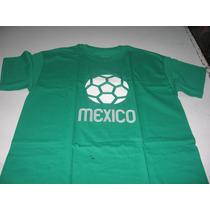 Playera Marca Ambulante Hombre Talla Grande Estampado Mexico