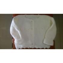 Saquito Sweater Abrigo Tejido Bebe Niños Crochet Dos Agujas