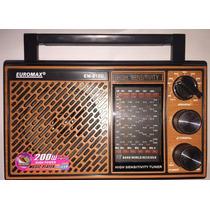 Radio Portatil Fm/tv/mw/12 Faixas A Pilhas Ou 110/220v + Usb