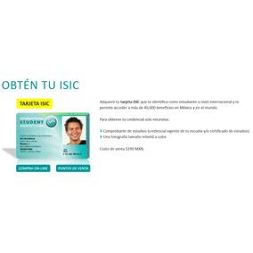 Credencial De Estudiante Isic
