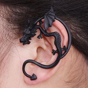 Brinco Ear Cuff Dragão Punk Gotico Rock Dragon 1 Unidade