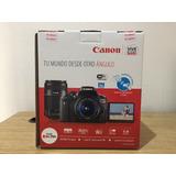 Canon Rebel T6i + 18-55 + 55-250, Nuevos !