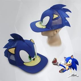 Kit Sonic : Touca Mais Boné Mais Boneco Pelúcia Frete Grátis
