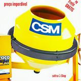 Betoneira Csm Com Motor Monofasico 2,0cv 400l Nova E Com Ga