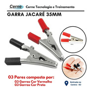 Garra Jacaré 35mm Vermelho E Preto 3 Pares