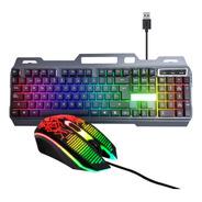 Combo Kit Gamer Teclado Y Mouse Retroiluminado Led Usb Pc