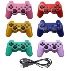 Controle Play3 Raspberry Sem Fio Ps3 Color Wirelles Dhj Full