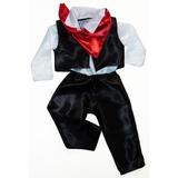 Conjunto Pantalon Tango Tanguero Pañuelo Disfraz Patrio Niño