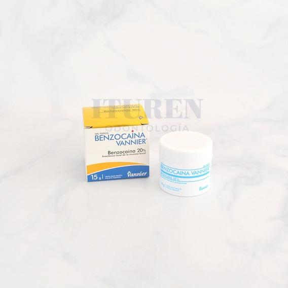 Anestesia Gel Tópico Benzocaína Vannier 20% 15g Odontología