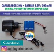 Bateria 3.6v500mah + Carregador 3.6v Mini Plug
