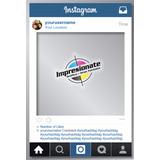 Cartel Cuadro Marco De Fotos Instagram Facebook En El Dia