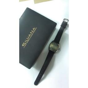Reloj Silvana Antiguo Esfera Verde 2 Tonos