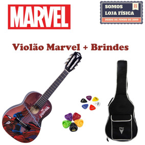 Violão Infantil Phx Marvel Homem Aranha + Kit Acessórios