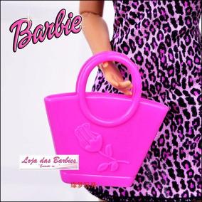 Bolsa Fashion Rosa Para Boneca Barbie / Susi / Blythe * F03